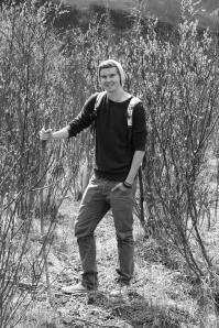 hiker bw
